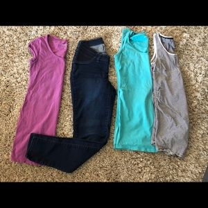 Maternity lot (stretch pants and 3 tops)